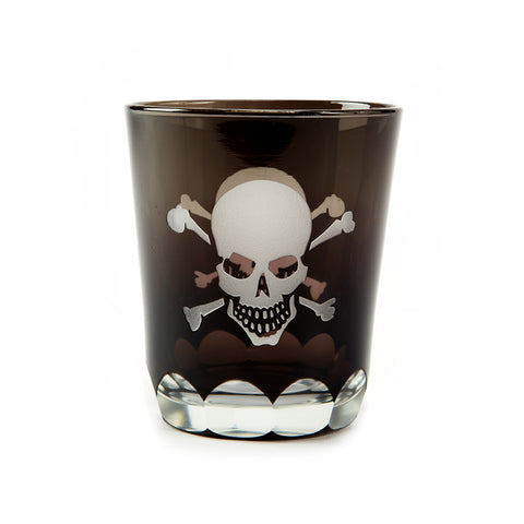 Skellington Skull and Crossbones Double Old Fashioned Whisky Glass