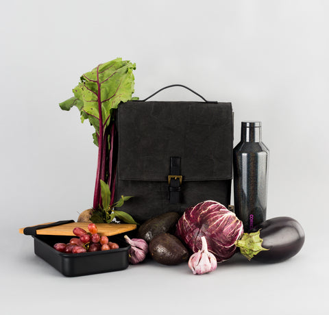 Premium Eco Washable Paper Lunch Bag | Black