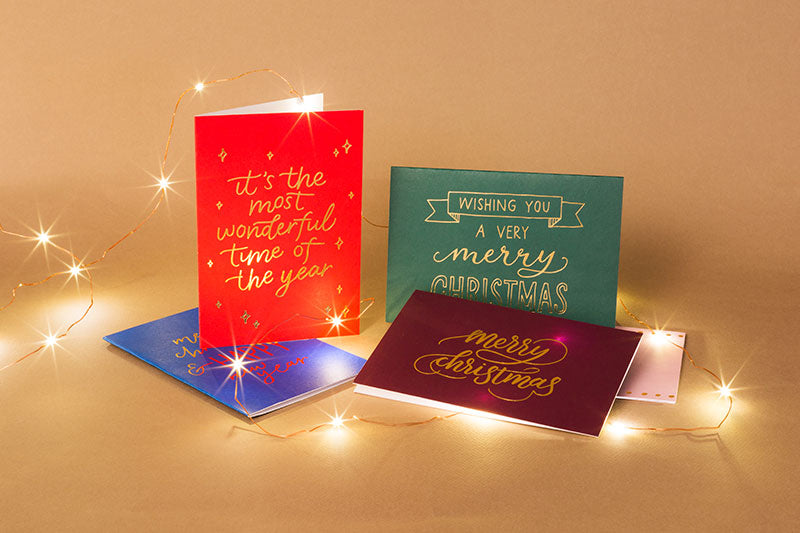 Christmas Foil Card Set of 5
