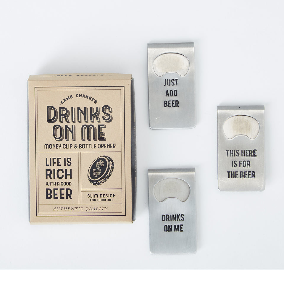 Drinks On Me Clip and Bottle Opener
