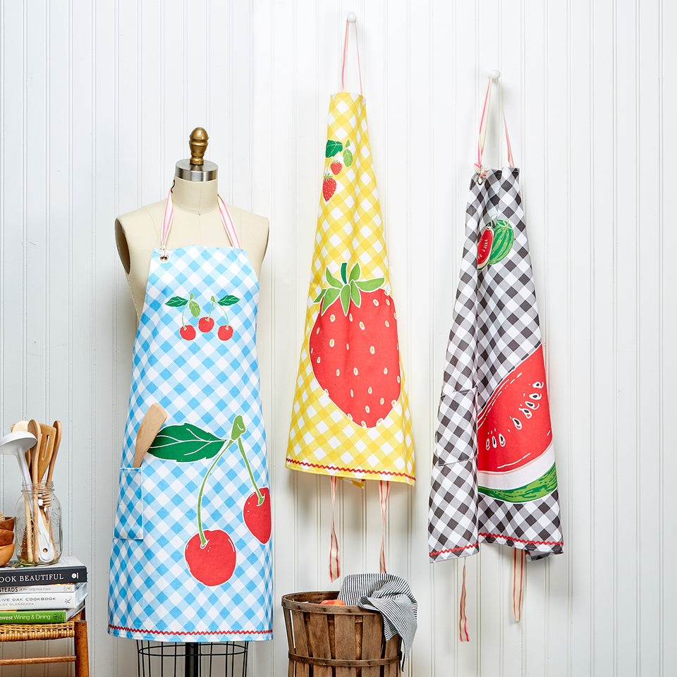 Fresh Picked Apron | Strawberry, Cherry or Watermelon