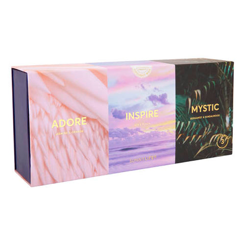 Scented Candle Pack Adore, Inspire, Mystic Set of 3