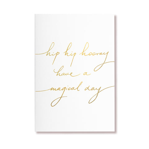 Single Card | Hip Hip Hooray