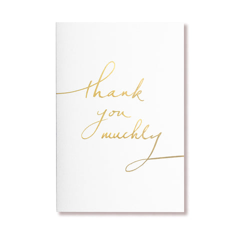Single Card | White Thank You Muchly