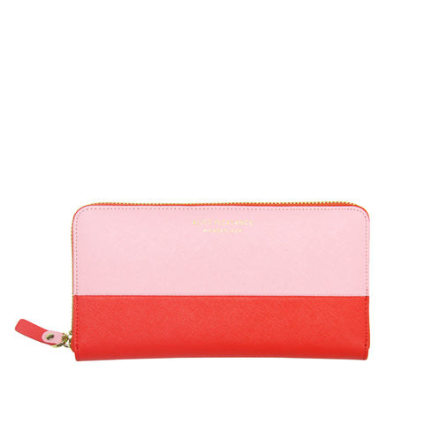 Leather Wallet | Pink & Orange
