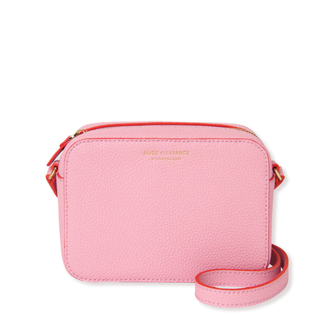 Leather Crossbody Bag | Pink & Orange