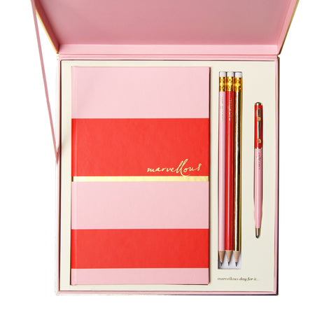 Notebook Gift Box Set | Orange & Pink