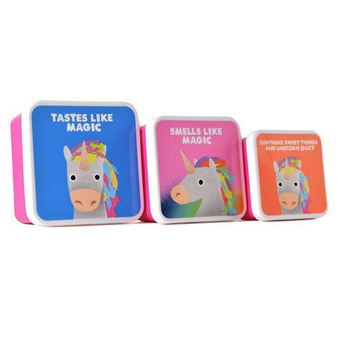 Lunch Boxes 3Set Unicorn