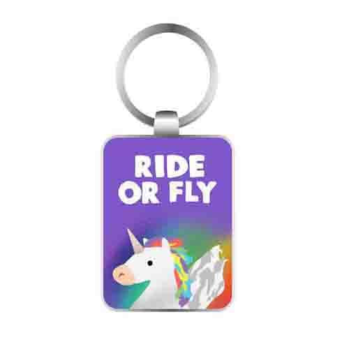 Keyring Ride Or Fly