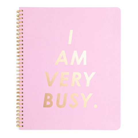 Large Spiral Notebook 'I Am Very Busy'