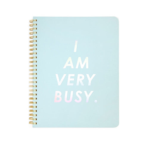 Mini Spiral Notebook 'I Am Very Busy'