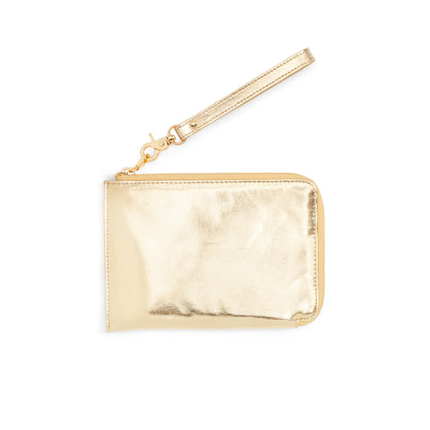 Travel Clutch Metallic Gold