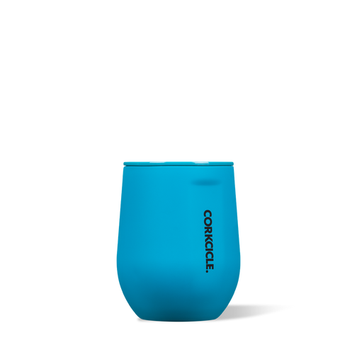 Corkcicle 12oz Stemless Neon Blue
