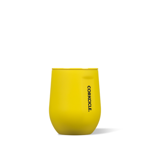 Corkcicle 12oz Stemless Neon Yellow