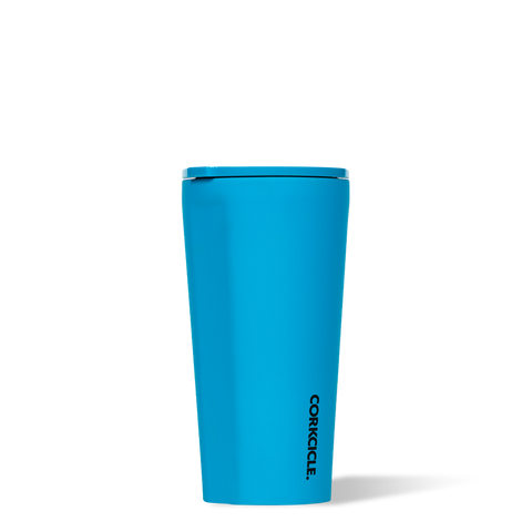 Corkcicle 16oz Tumbler Neon Blue