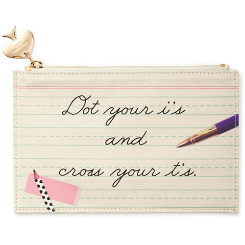 Pencil Pouch - Dot the I's