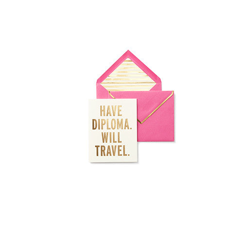 Have Diploma, Will Travel | Kate Spade Greeting Card - Mr&MrsJones