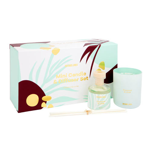Mini Candle + Diffuser Set Coconut & Lime