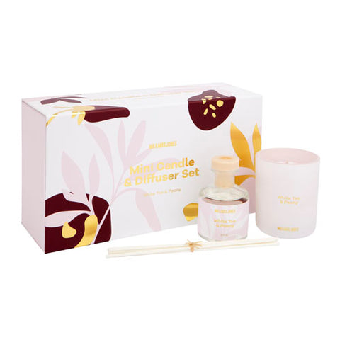 Mini Candle + Diffuser Set White Tea & Peony