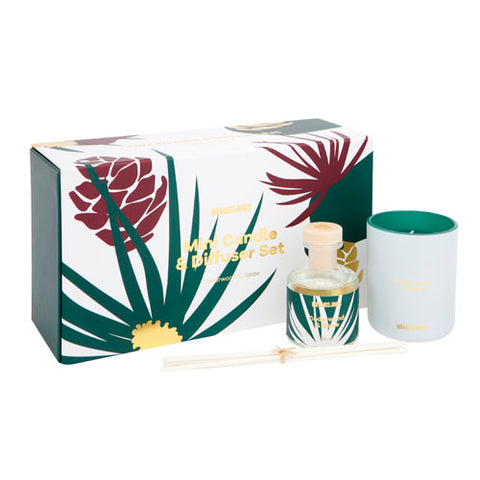 Mini Candle + Diffuser Set Cedarwood & Spice