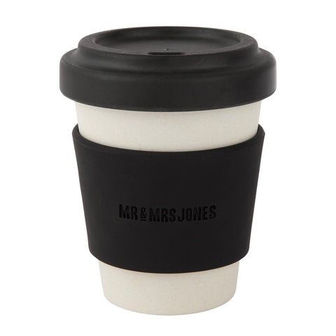 Coffee Cup Bamboo 8 oz Black