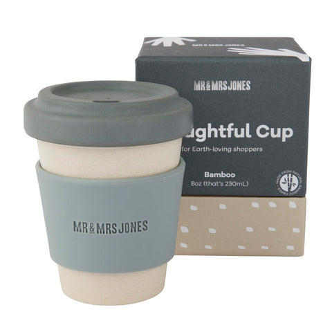 Coffee Cup Bamboo 8 oz Concrete