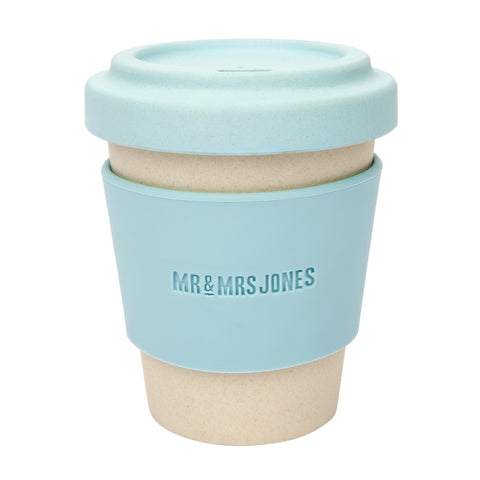 Coffee Cup Bamboo 8 oz Sky