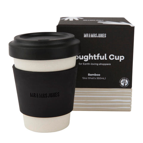 12 oz Bamboo Coffee Cup | Black