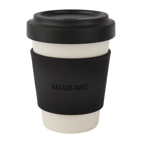 Coffee Cup Bamboo 12 oz Black