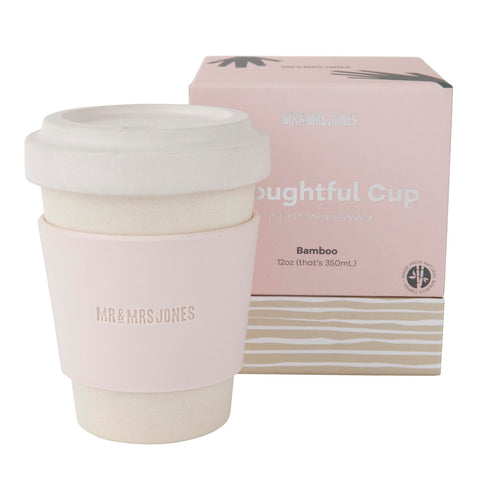 Coffee Cup Bamboo 12 oz Dust