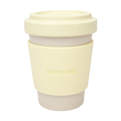 Coffee Cup Bamboo 12 oz Lemon