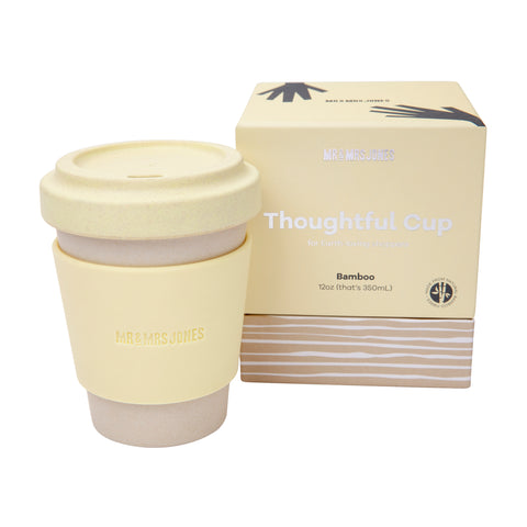 12 oz Bamboo Coffee Cup | Lemon