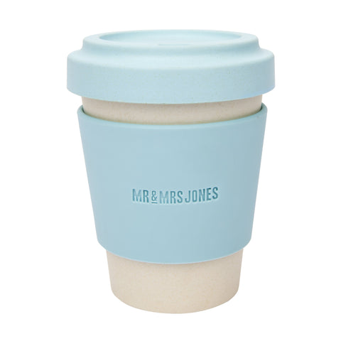 Coffee Cup Bamboo 12 oz Sky