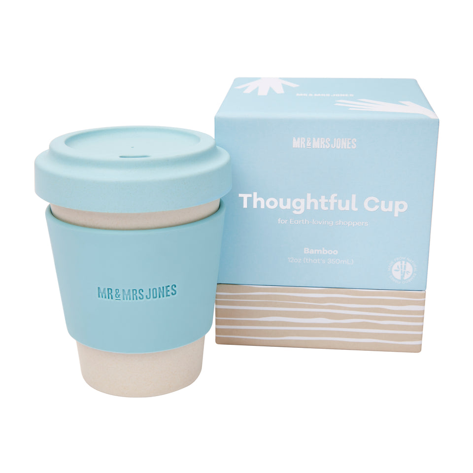 Bamboo coffee cup | 8oz and 12oz (assorted colours)