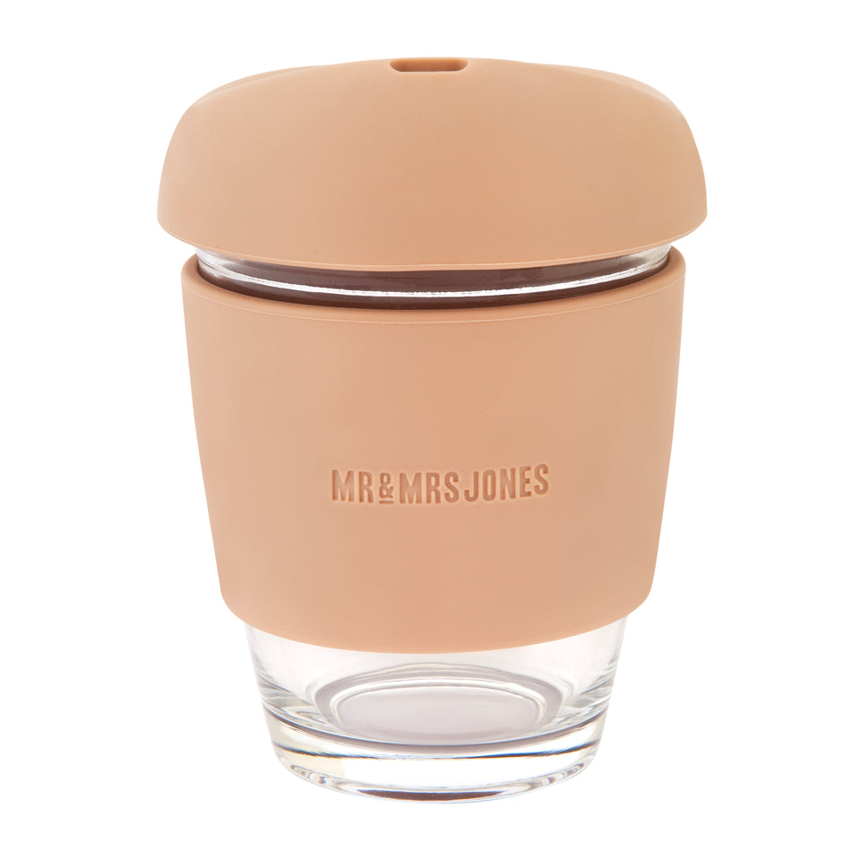 Glass Coffee Cup (assorted colours)