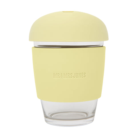 Coffee Cup Glass 12 oz Lemon