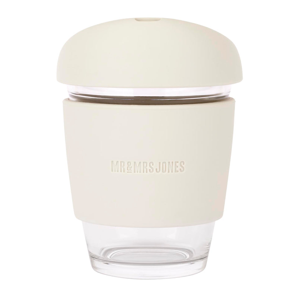 Glass Coffee Cup | 8oz and 12oz (assorted colours)