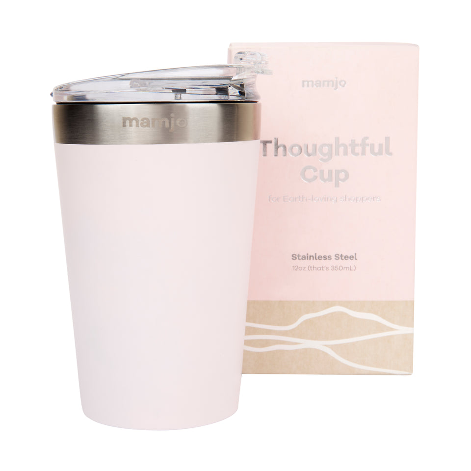 Thoughtful Steel Coffee Cup 12oz (assorted colours)