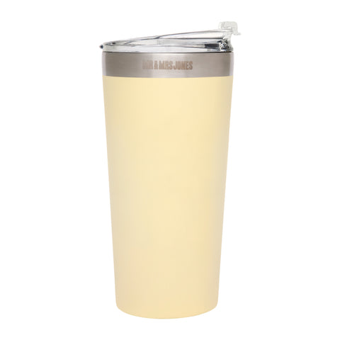 Coffee Cup Steel 16 oz Lemon