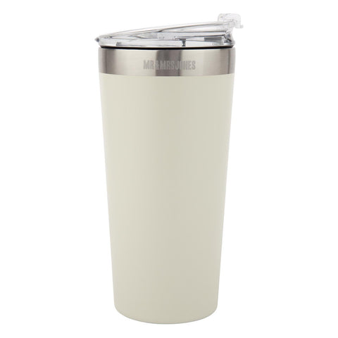 Coffee Cup Steel 16 oz Stone