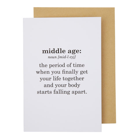 Middle Age Card