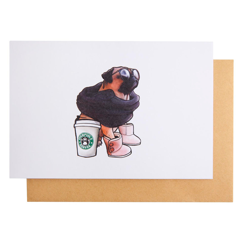 Doggy Style Flat White Card