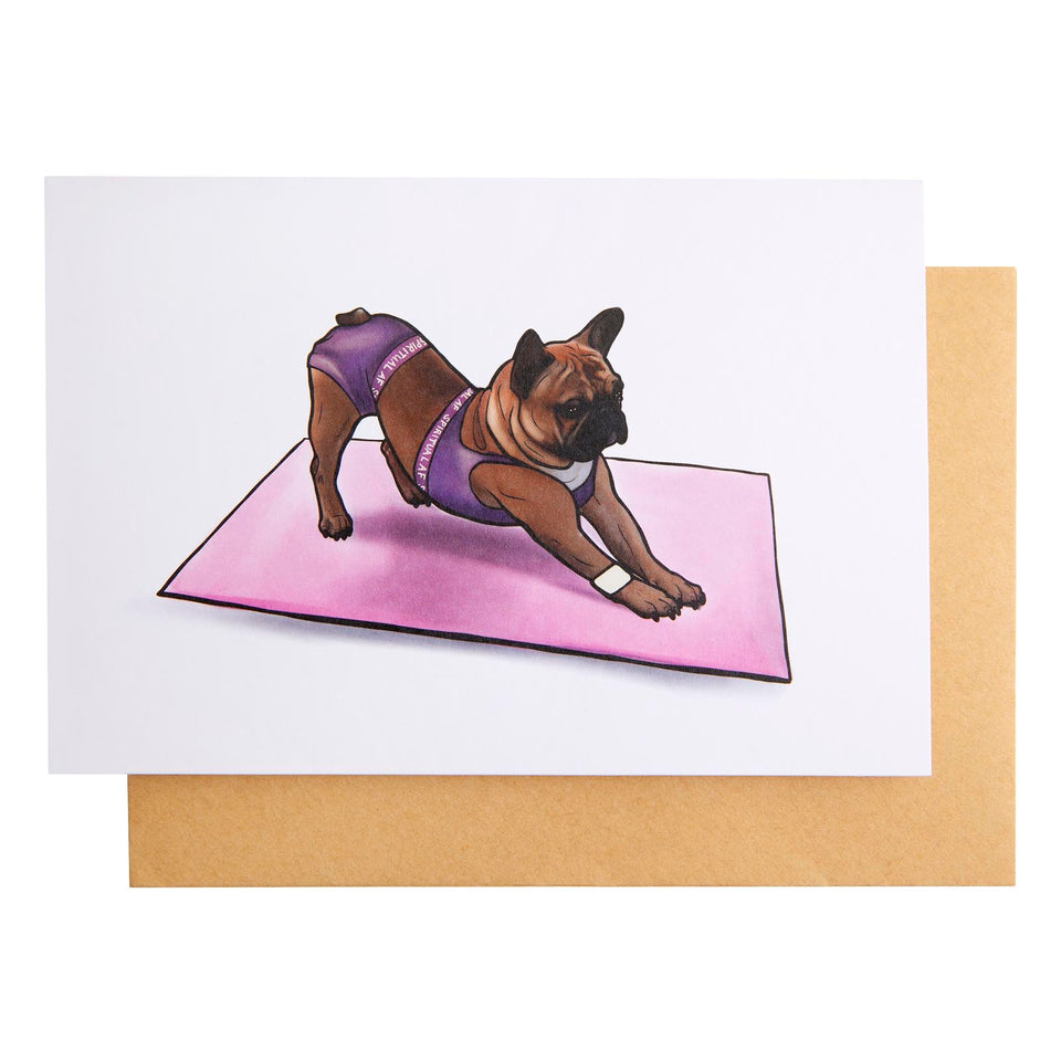 Doggy Style Yoga Card