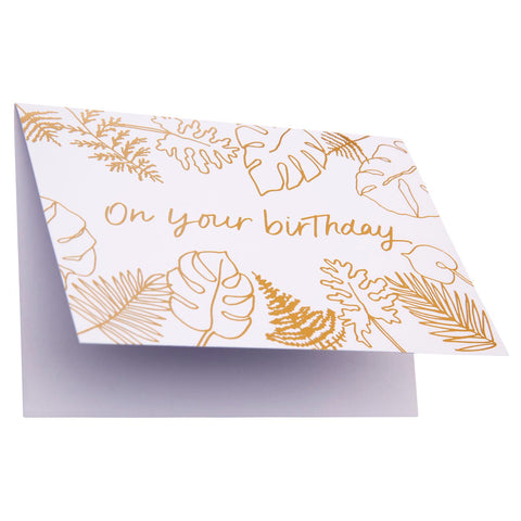 Card Floral Foil Birthday