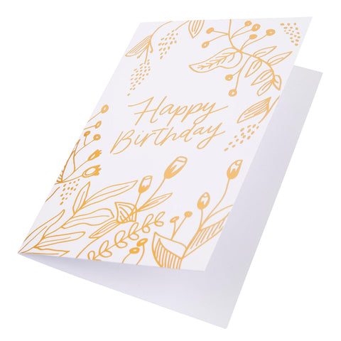 Card Floral Foil Happy Bday