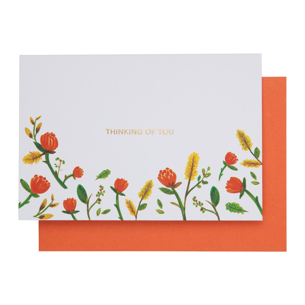 Card Floral Thinking Of You