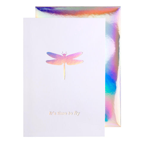 Card Iridescent Time To Fly