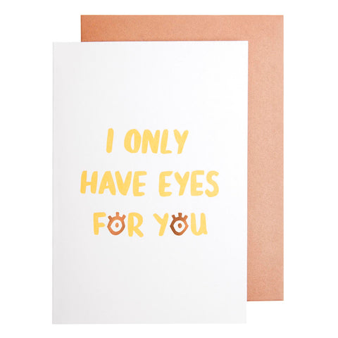 Card Love Eyes For You