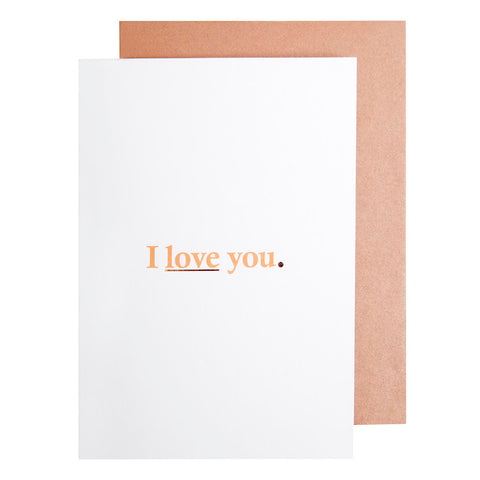 Card Love I Love You