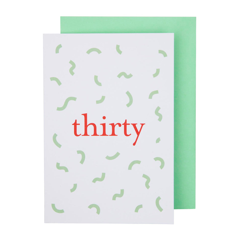 Thirty Card
